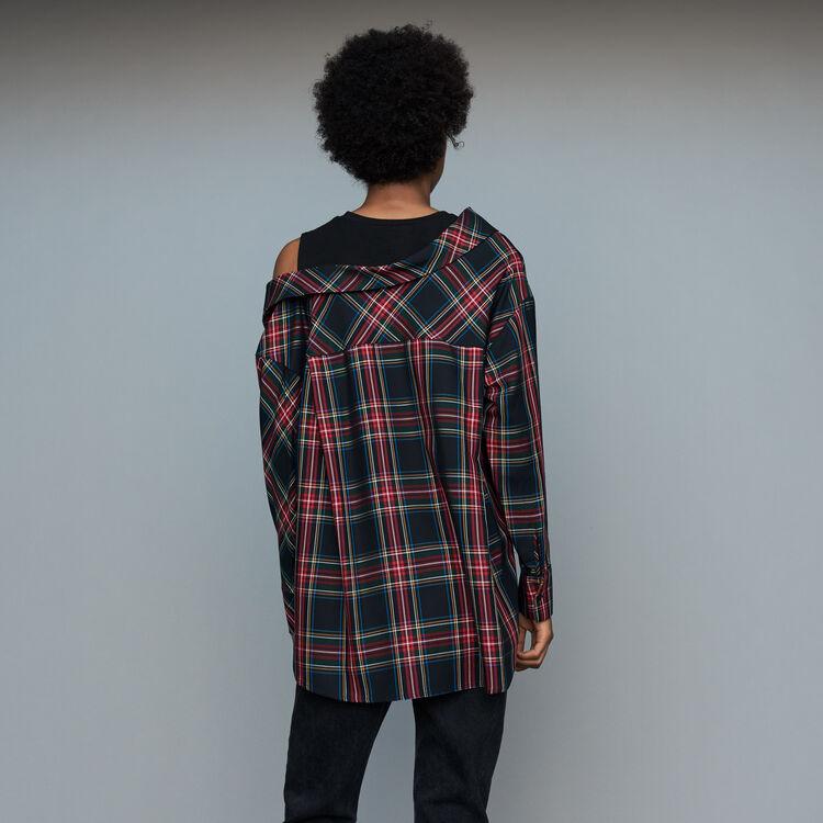 Chemise déstructurée à carreaux : Prêt-à-porter couleur CARREAUX