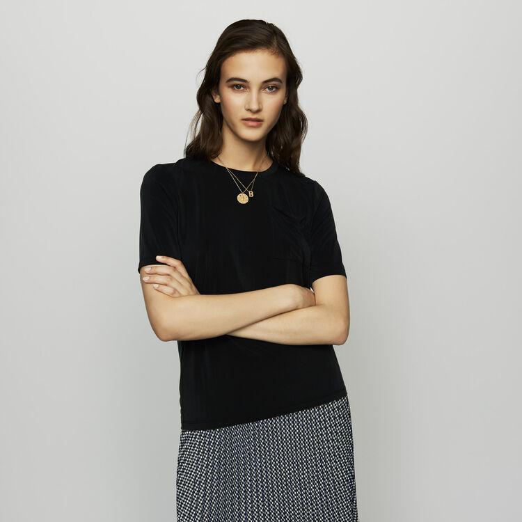 Tee-shirt en cupro : T-Shirts couleur Black