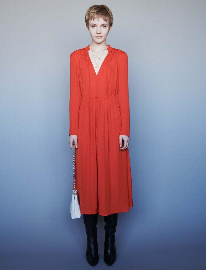 Dress with drawstring waist - Dresses - MAJE