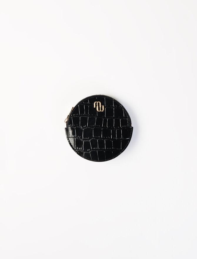 Embossed leather purse belt -  - MAJE