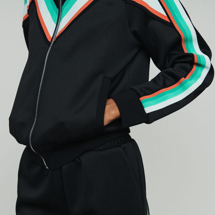 Veste de sport zippée : Vestes couleur Black