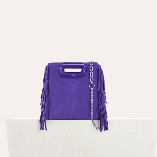 Sac M Mini en suède avec chaine : M Mini couleur Violet