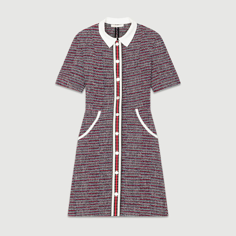 Robe en tweed : Les imprimés couleur Jacquard