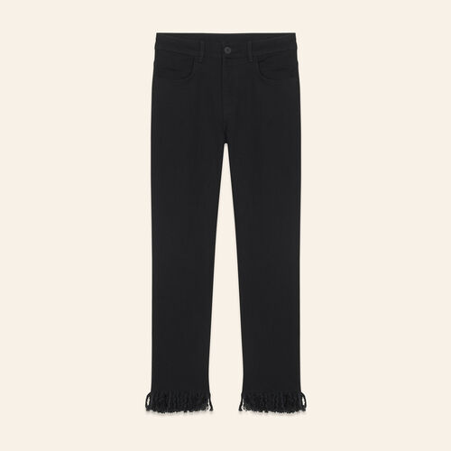 Straight-cut fringed jeans - Jeans - MAJE