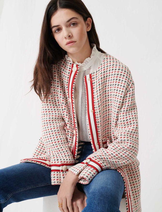 Short preppy tweed-style coat - Coats & Jackets - MAJE