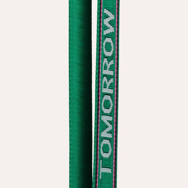 Bandoulière en textile jacquard : Bandoulières couleur Vert