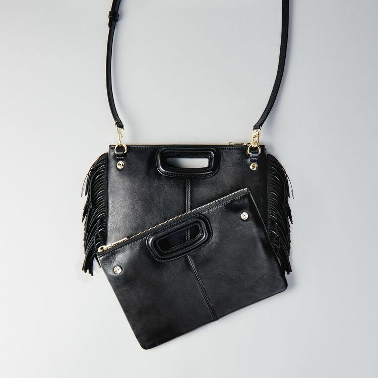 Leather M Duo purse : M Duo color Black