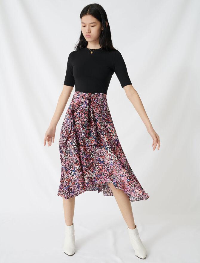 Printed trompe l'œil dress - Dresses - MAJE