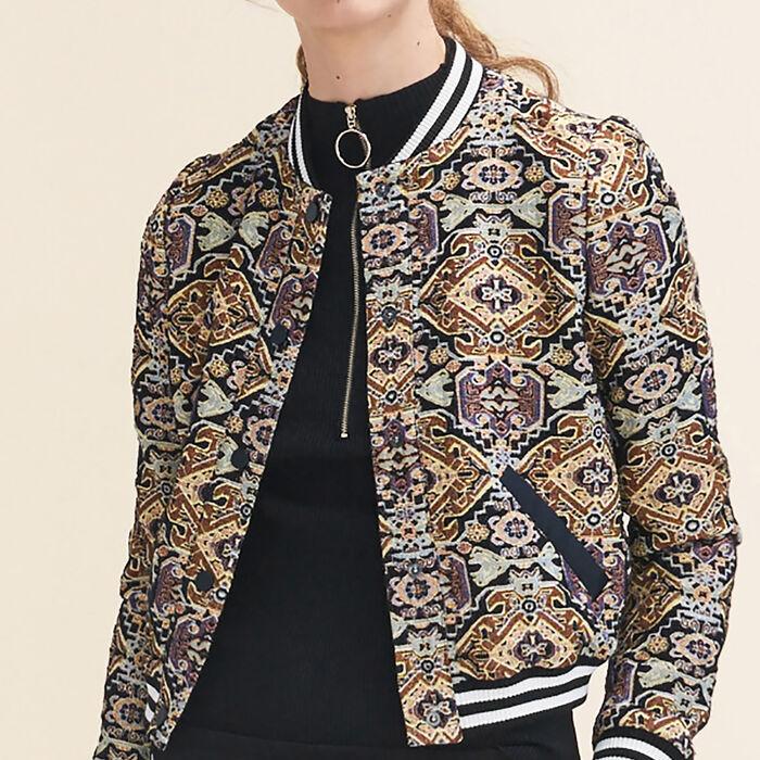 Blouson en jacquard : Blousons & Vestes couleur Jacquard