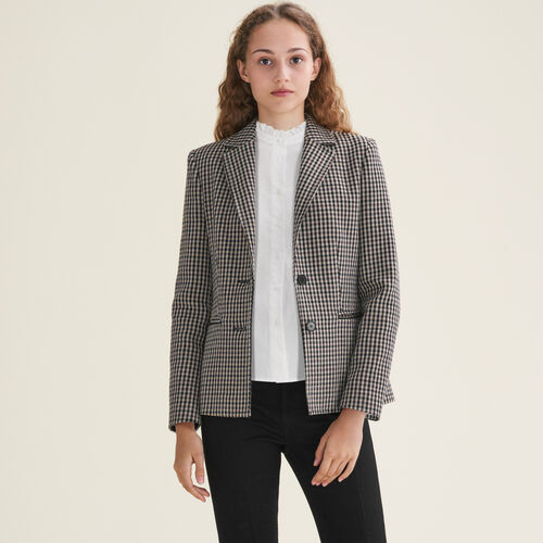 Fitted tailored jacket : Jackets & Blazers color Jacquard