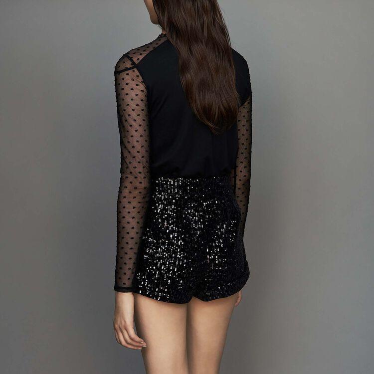 Short à sequins : Jupes & Shorts couleur Black