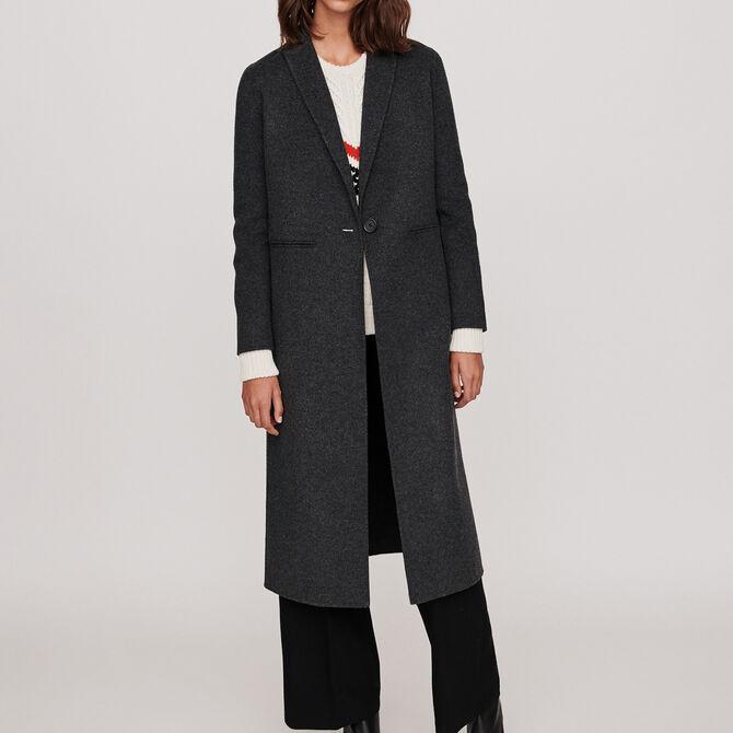 Manteau en laine double face - Manteaux - MAJE