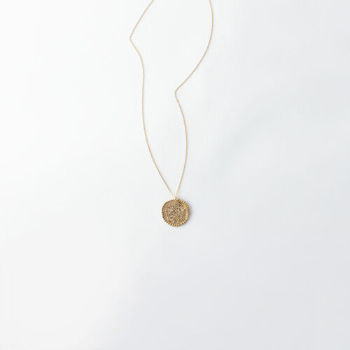 Capricorn zodiac sign necklace : All accessories color Old Brass