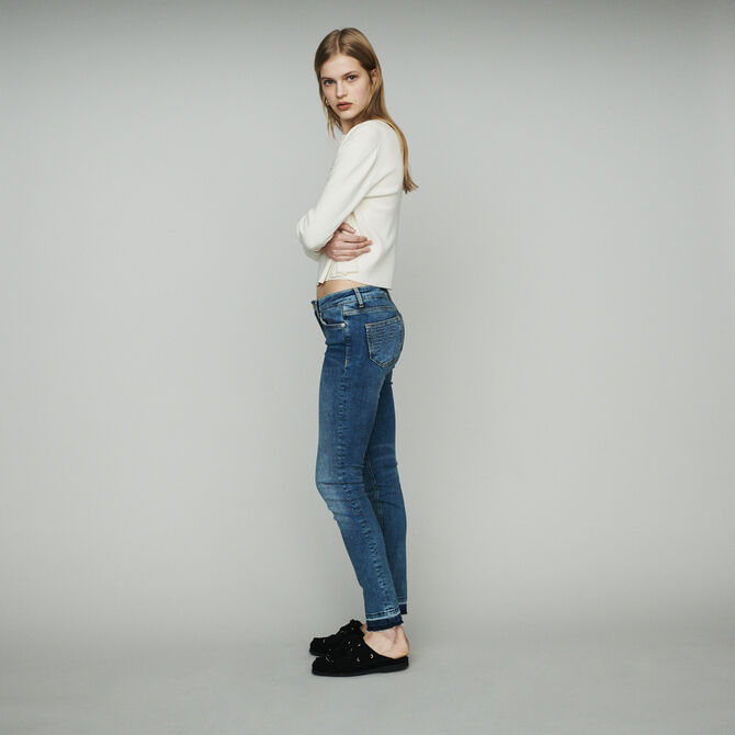 Slim jeans in stretch cotton -  - MAJE