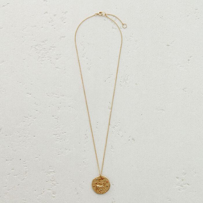 Collier Sagittaire signe du zodiaque : Médailles couleur OR
