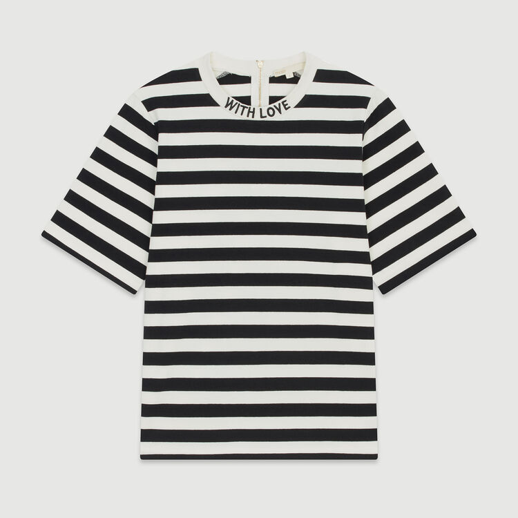 Tee-shirt à rayures bicolores : T-Shirts couleur Rayure
