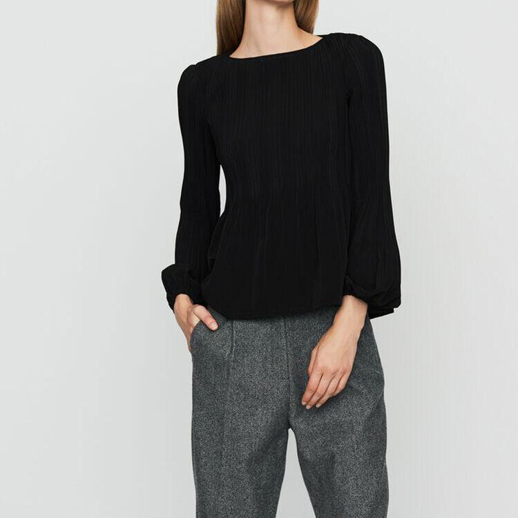 Top avec plissage : Nouvelle Collection couleur Black