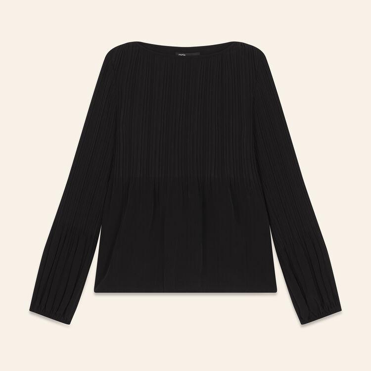Top avec plissage : Prêt-à-porter couleur Black