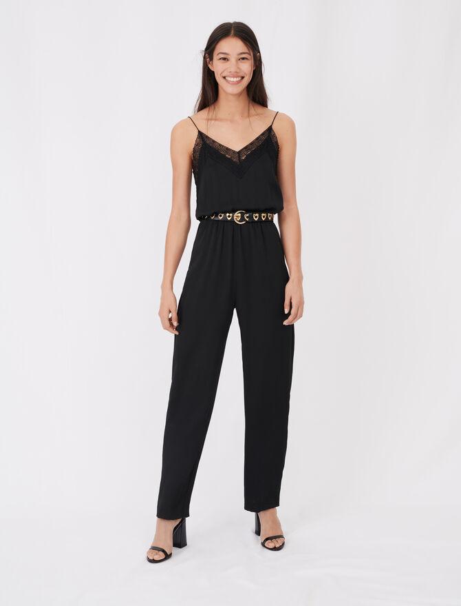 Combinaison-pantalon en satin - Combinaisons - MAJE