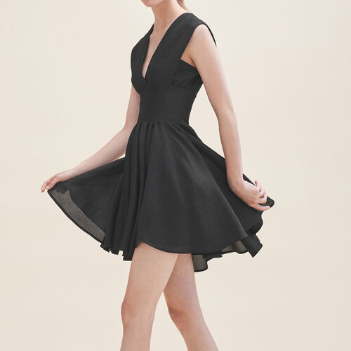 Robe patineuse sans manches : Robes couleur Black
