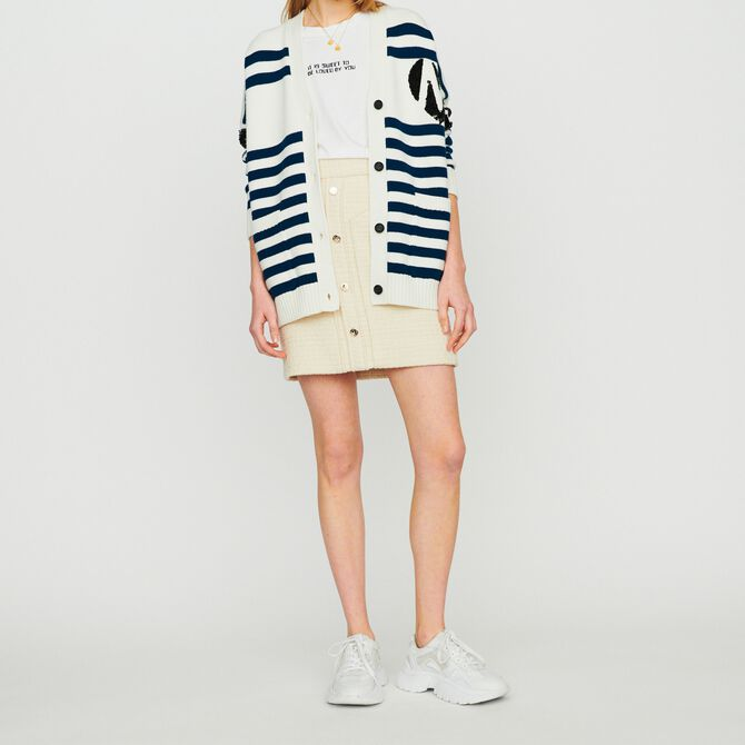 Striped cardigan embroidered - See all - MAJE