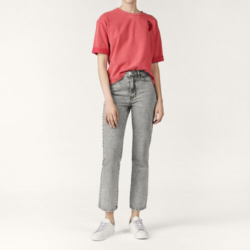 Faded skinny jeans : Trousers & Jeans color Grey