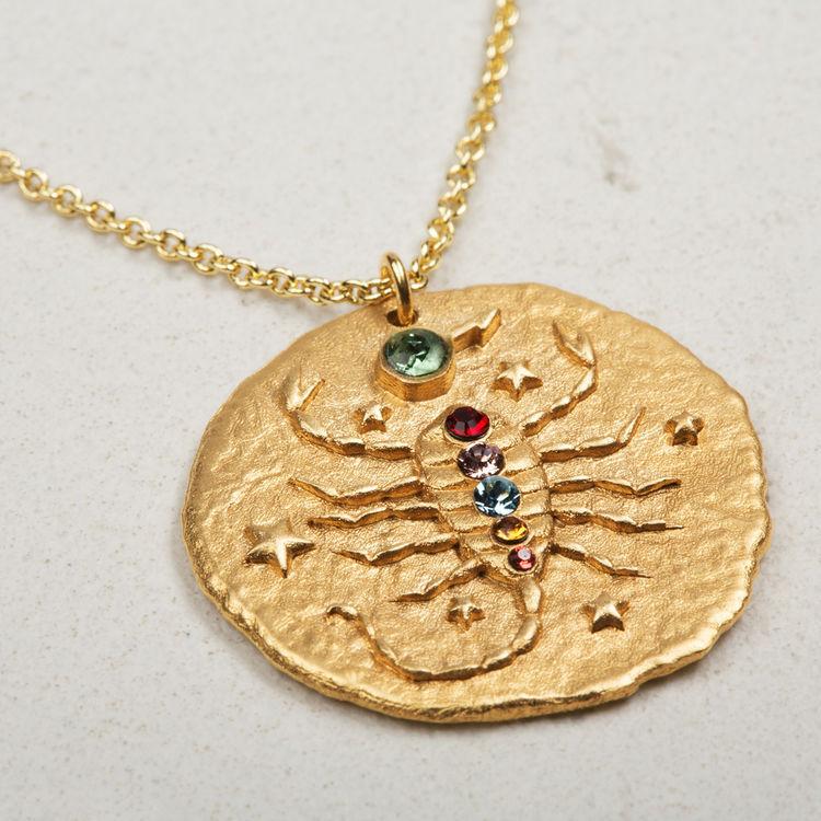 Collier Scorpion signe du zodiaque : Tout voir couleur OR