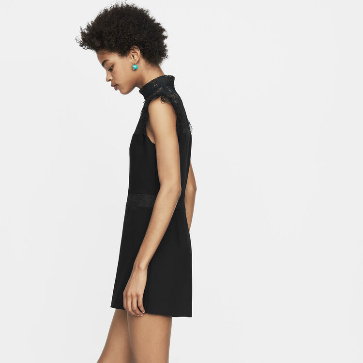 Combi-short avec dentelle : Combinaisons couleur Black