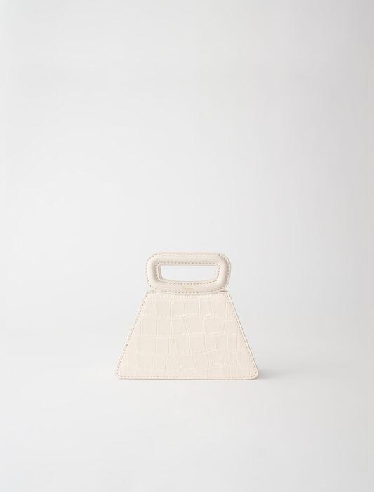 Mini sac pyramide en cuir embossé : LastchanceIT_30 couleur Noir