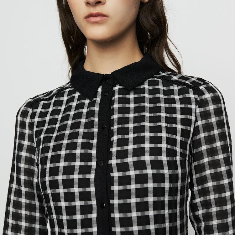 Robe-chemise à carreaux : Prêt-à-porter couleur CARREAUX