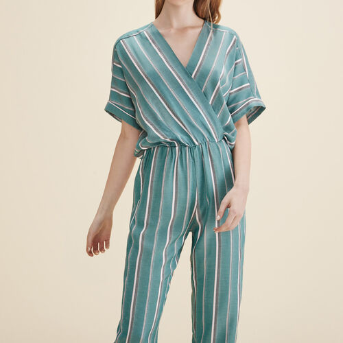 Jacquard jumpsuit : Trousers & Jeans color Print