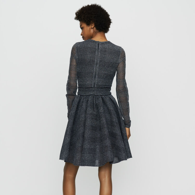 Robe patineuse en maille basket : Robes couleur Gris