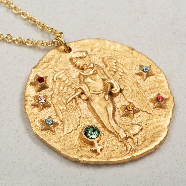 Collier Vierge signe du zodiaque : Médailles couleur OR