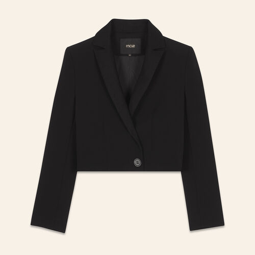 Veste courte type spencer : Blousons & Vestes couleur BLACK