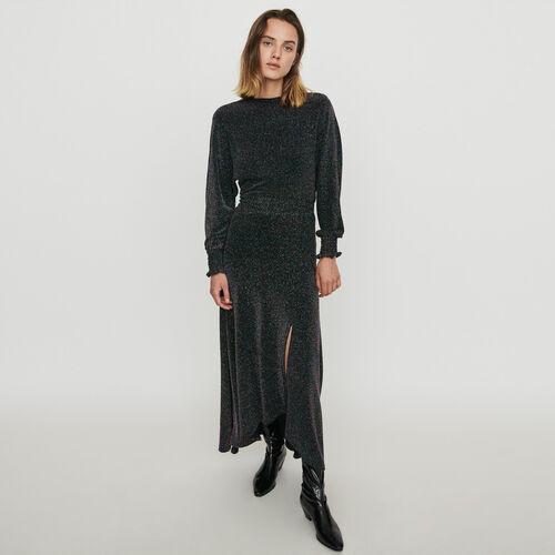Stretch scarf dress in Lurex : Dresses color Multico