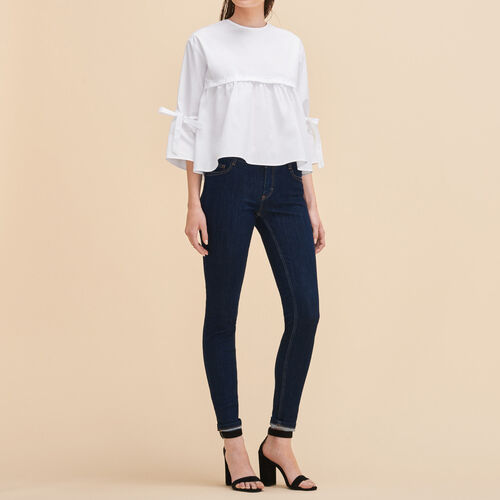 Skinny jeans : Trousers & Jeans color Denim