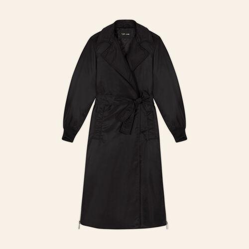 Trench avec zips latéraux : Manteaux couleur BLACK