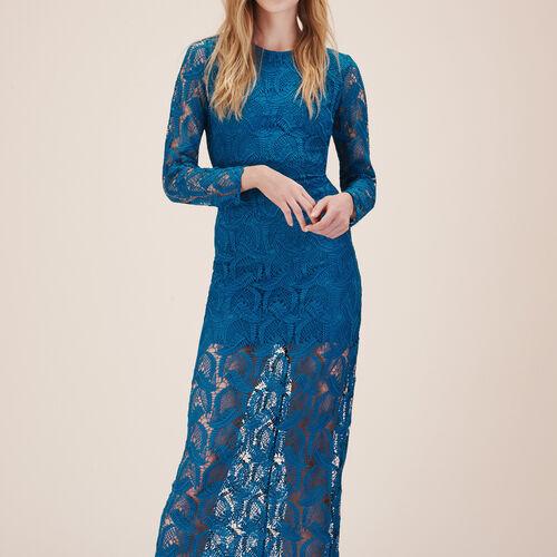 Long lace dress : Dresses color Blue
