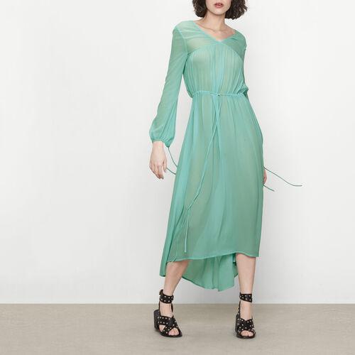 Robe longue avec lien coulissant : Robes couleur Menthe