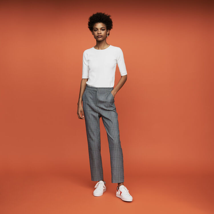 Pull fin à manches courtes : Nouvelle Collection couleur Blanc
