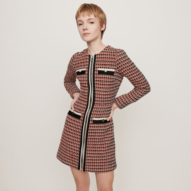 Tweed-style contrast dress - staff private sale 20 - MAJE