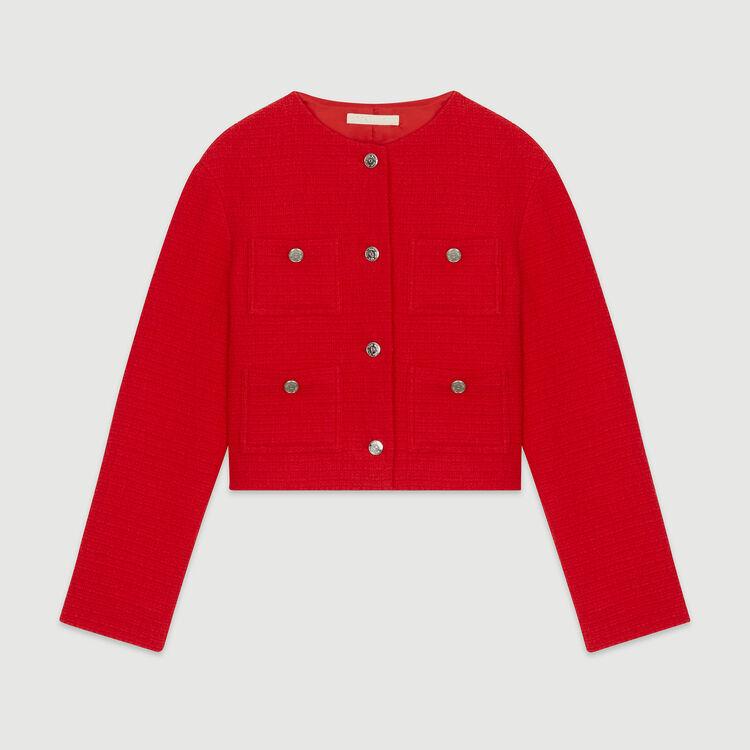 Veste courte façon tweed : Vestes couleur ECRU