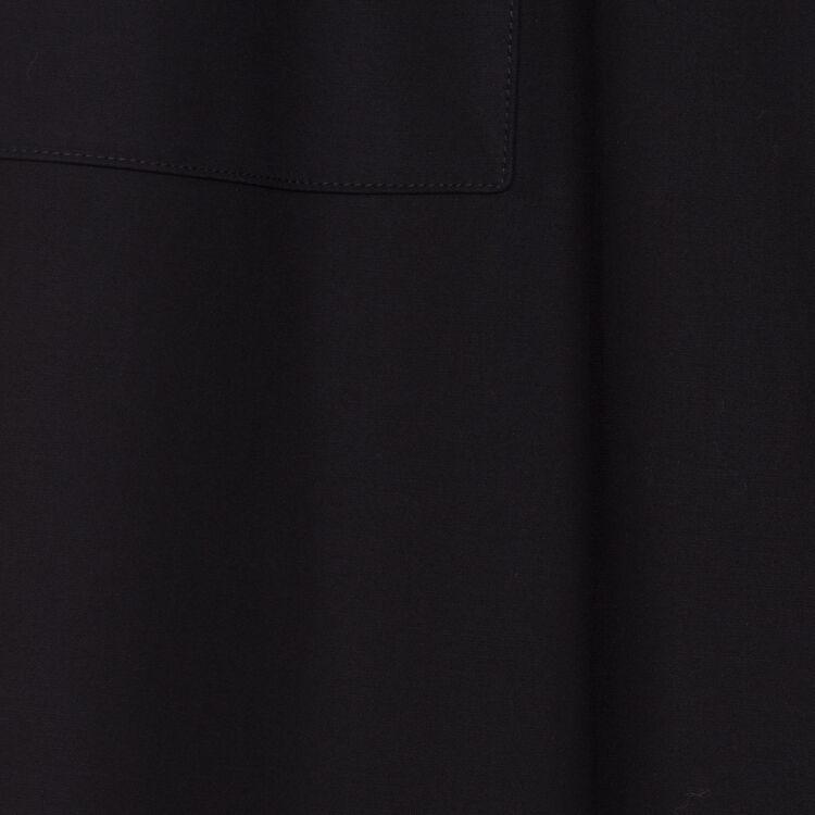 Pantalon large taille haute : Prêt-à-porter couleur Black
