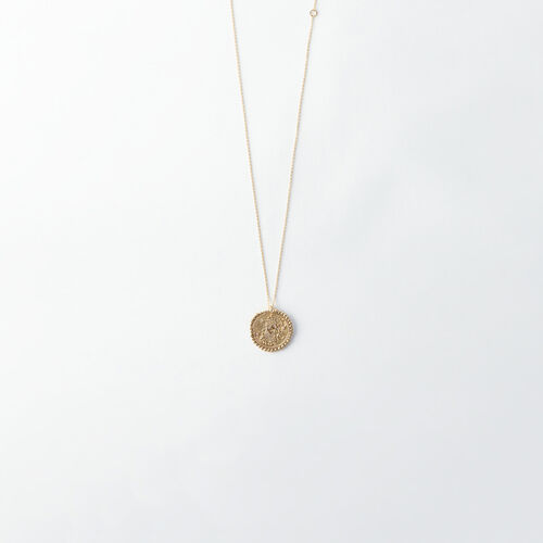 Virgo zodiac sign necklace : All accessories color Old Brass