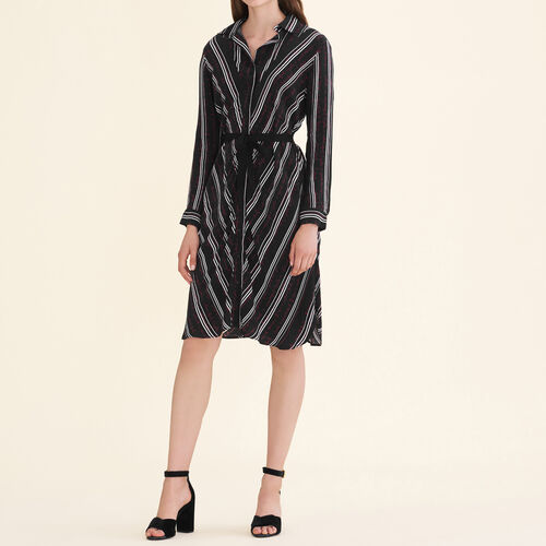 Printed shirt dress : Dresses color Print