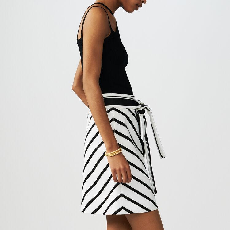 Jupe trapèze à rayures : Jupes & Shorts couleur Rayure