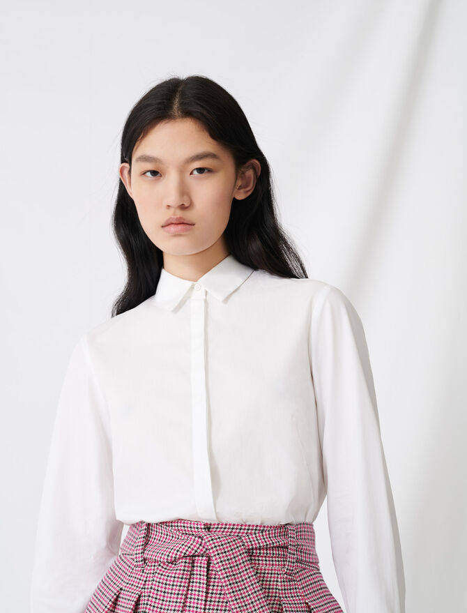 Chemise blanche en popeline - Tops & Chemises - MAJE
