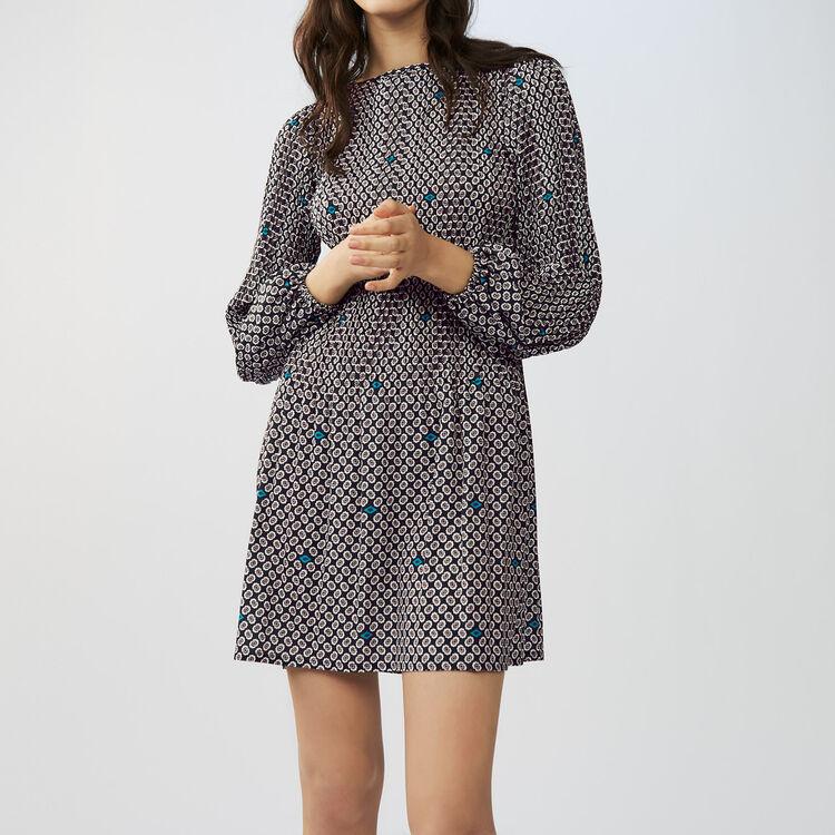 Robe plissée : Robes couleur IMPRIME