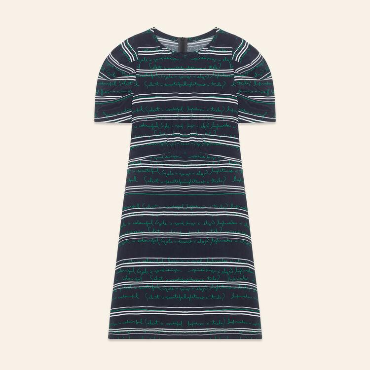 Robe courte avec inscriptions : Robes couleur Imprime