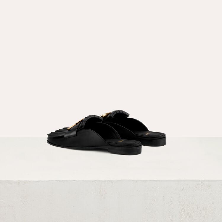 Mocassin mule avec boucle : Chaussures couleur Black